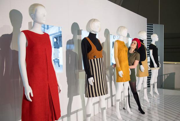 Iconic looks: Mary Quant's dresses on display at the Victoria & Albert exhibition dedicated to the fashion designer