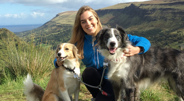 Great outdoors: Eden Wilson with her dogs