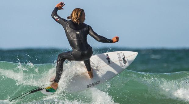 Adrenaline rush: surfing is a great way to work out