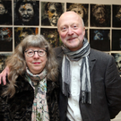 Devoted couple: Co Down artist Leslie Nicholl and his wife Elaine at his exhibition