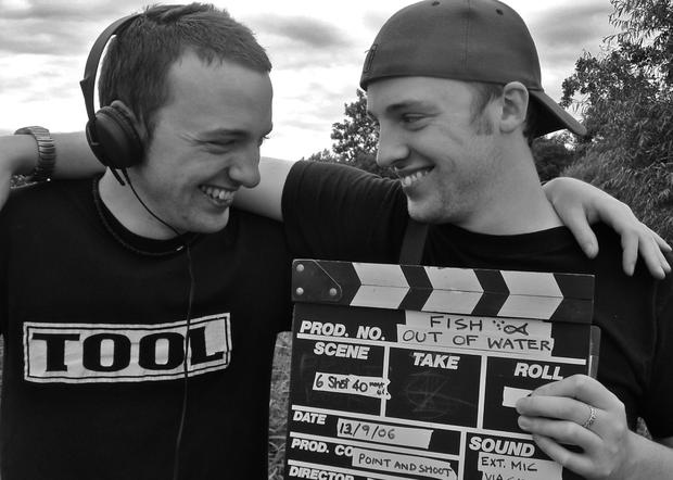 The brothers filming in their younger days