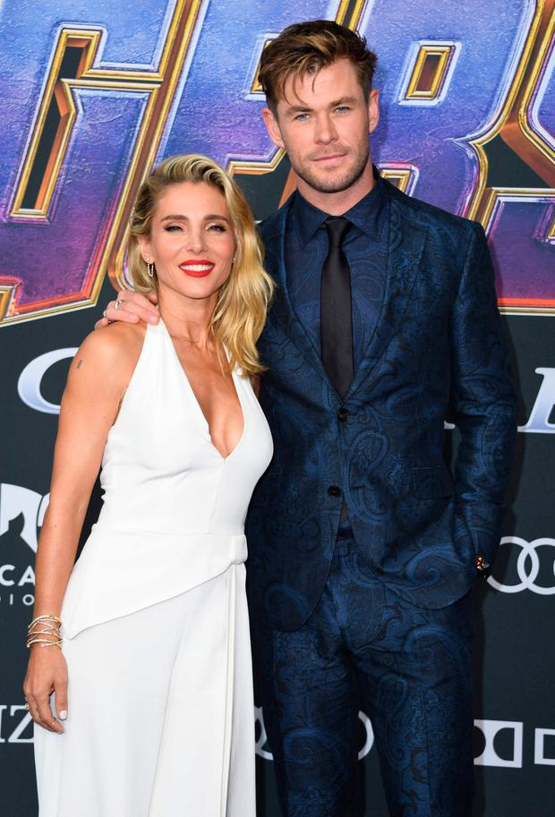 Chris Hemsworth with wife Elsa Pataky at the film's premiere