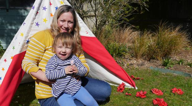 Solo experience: Genevieve Roberts with her daughter Astrid