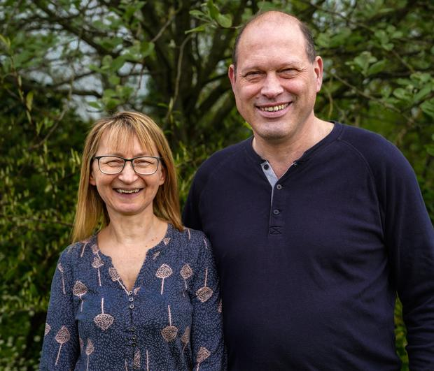 Dr Ulrich with his wife Fiona