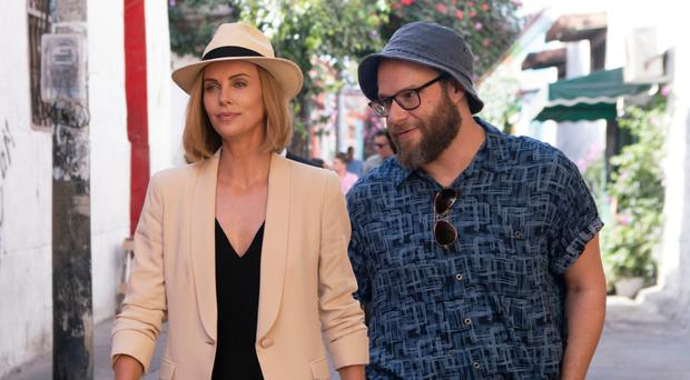 Playing politics: Charlize Theron and Seth Rogen in Long Shot