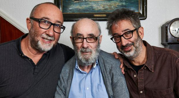 David Baddiel with his brother Ivor and father Colin