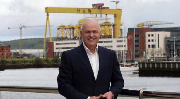 Amazing opportunities: Frank Mitchell outside the UTV offices at Clarendon Dock in Belfast