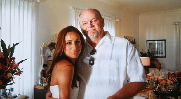 Meghan Markle with dad Thomas