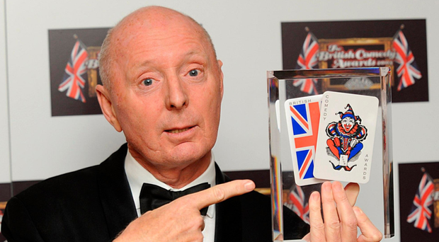 Jasper Carrott winning the Lifetime Achievement Award at the British Comedy Awards 2008