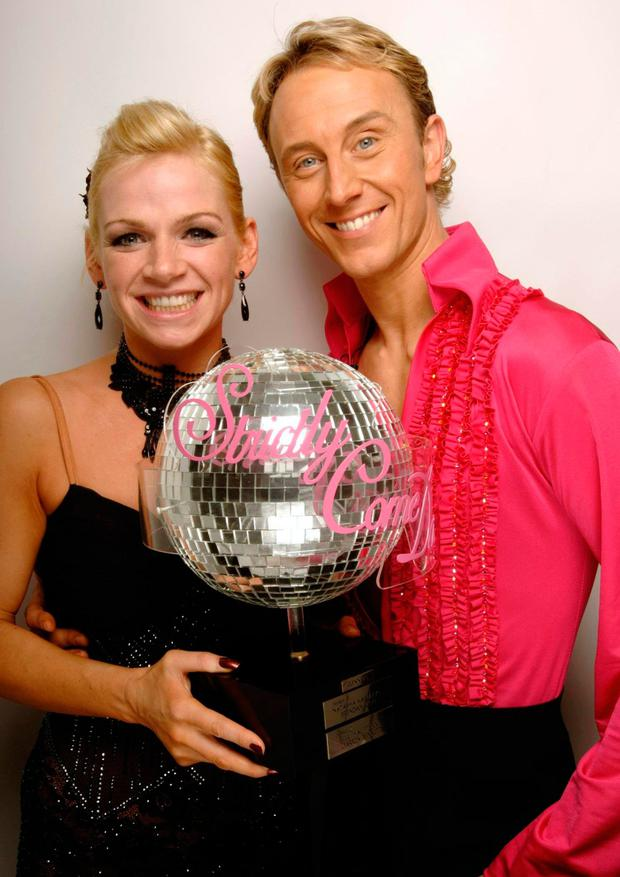 With favourite dance partner Zoe Ball