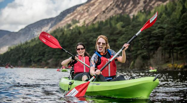 Pushing the limits: people kayaking at Quest Wales
