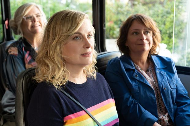 Booze cruise: (from left) Paula Pell as Val, Amy Poehler as Abby and Rachel Dratch as Rebecca