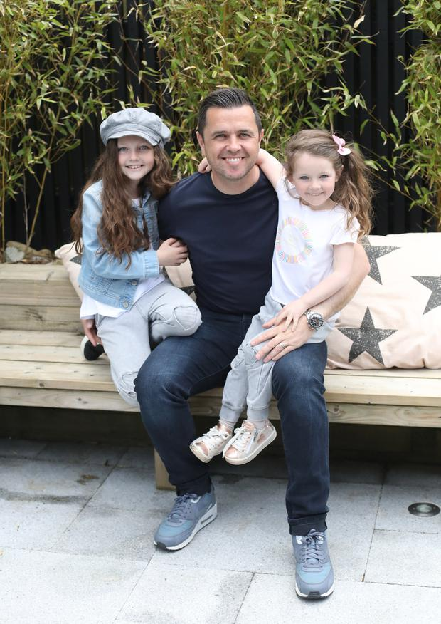 Pete with his two girls