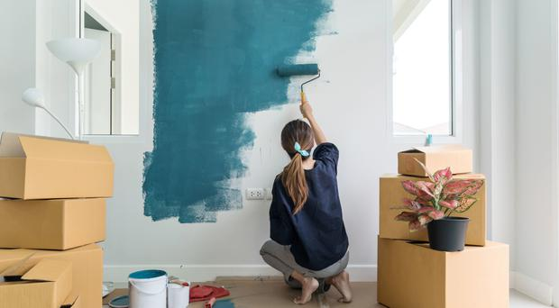 Big effort: painting can be physically demanding
