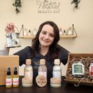 Natural beauty: Shauna Gallagher with a selection of her skincare products