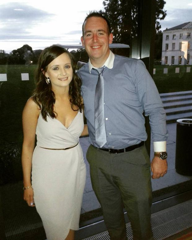 Shauna Gallagher with her partner Eoin Maguire