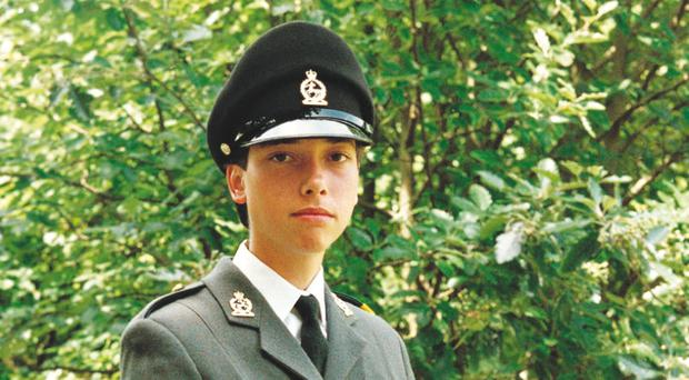 The young soldier Tara Robertson who was seriously injured in a double bomb attack