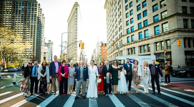American dream: Gary and Janet Posnett getting married in New York