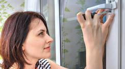 Preventative action: fitting locks to windows and doors can put off potential burglars