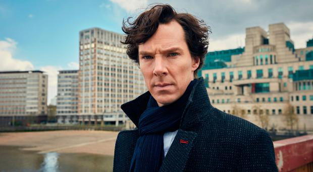 Benedict Cumberbatch as the detective in the BBC series