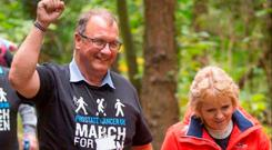 Raymond McKee with his wife Marion on last year's March for Men
