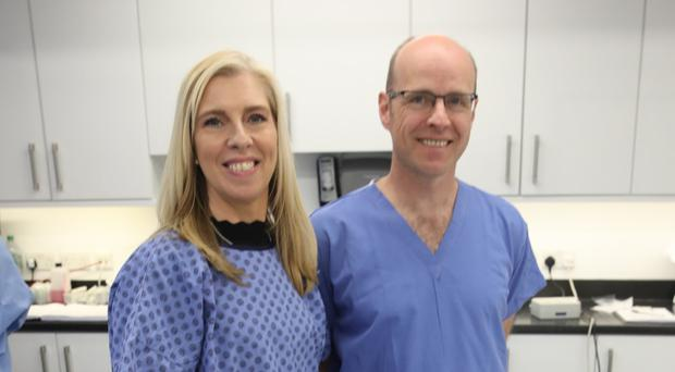 Expert care: Paula Gracey with consultant Alistair Lewis