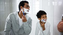 Dapper dads: shaving gifts are very popular with fathers