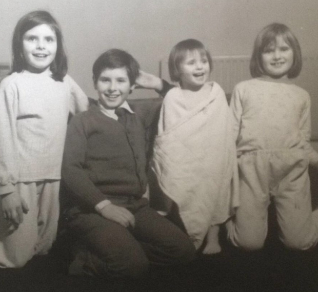 With brother, Michael Lee, when they were children