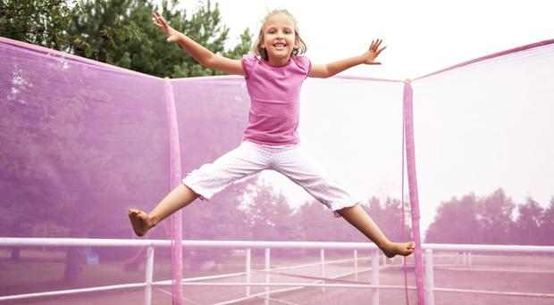 On the bounce: trampolines are becoming very popular with kids of all ages