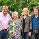 Show time: Nicki (left) with Mark Gregory, Carol Klein, and Diarmuid Gavin from The Great Garden Challenge
