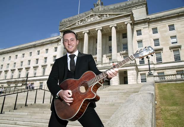 Rocking Stormont: Nathan before performing at Parliament Buildings as part of BBC Music Day in 2016
