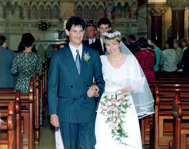 Dermot Breen and his wife Jacqui on their wedding day in 1987