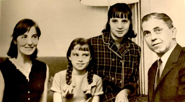 Strong bond: Thomas and Ingeborg Niedermayer with their daughters Gabrielle and Renate (front)