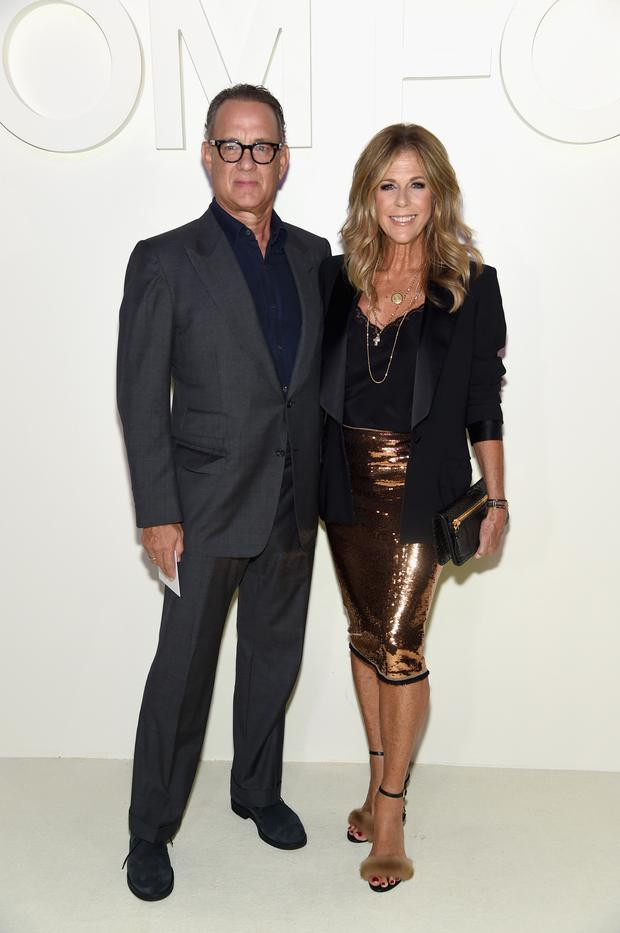 Tom with his wife, Rita Wilson