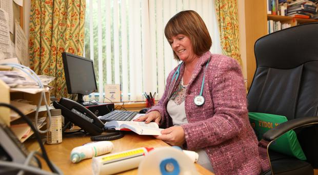 In demand: Dr Frances O'Hagan hard at work at her desk
