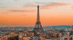 Standing tall: the Eiffel Tower dominates the Paris skyline