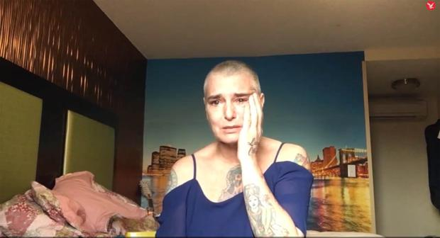 Cry for help: Sinead's distressing video from 2017