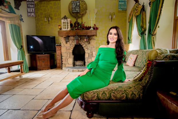 Beauty queen: Lauren Leckey at home in Stoneyford