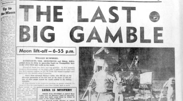 Big gamble: how the Belfast Telegraph reported the first Moon landing in July 1969