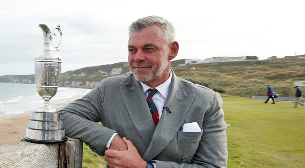 Darren Clarke at the announcement that The Open would be held at Royal Portrush in 2019