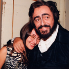 Big romance: Luciano Pavarotti with his wife Nicoletta Mantovani