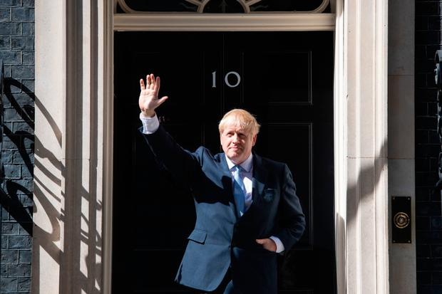The new PM at the door of No 10