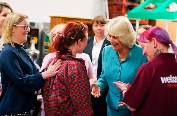 The Duchess of Cornwall called into the Welcome Organisation during her visit here in May