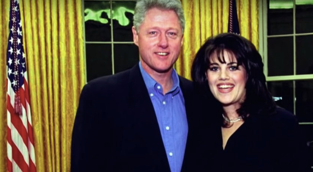 Big scandal: Monica Lewinsky with Bill Clinton in the White House