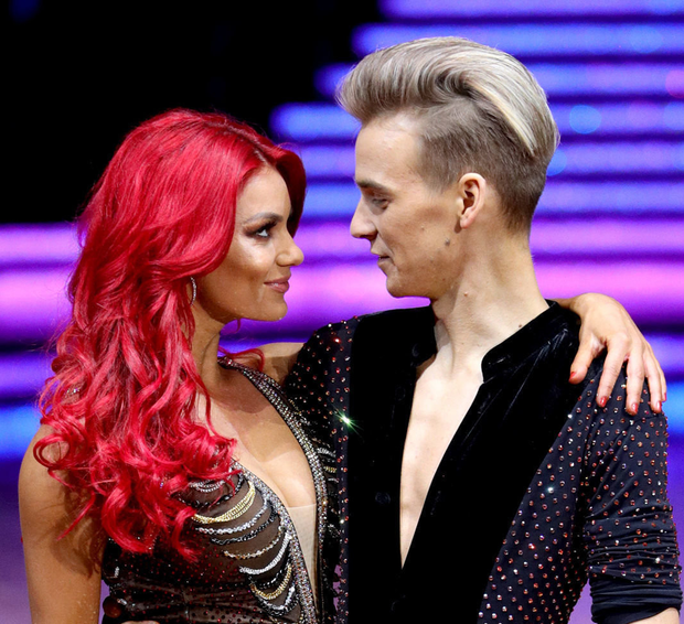 Dianne Buswell with partner Joe Sugg
