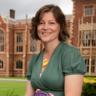 Top honour: Kelly McCaughrain, the new Seamus Heaney Writing Fellow, outside Queen's University