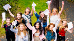 Belfast Victoria College students celebrate their results in 2016