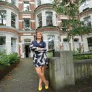 Boutique hotel: Melanie Harrison at her conversion of a Victorian townhouse on the Malone Road in Belfast
