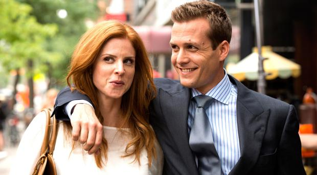 Close friends: characters in television series Suits, Harvey and Donna, worked well together