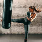Hard hitting: kickboxing